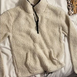 Super cozy pull over with zipper
